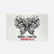 Butterfly Brain Cancer Rectangle Magnet