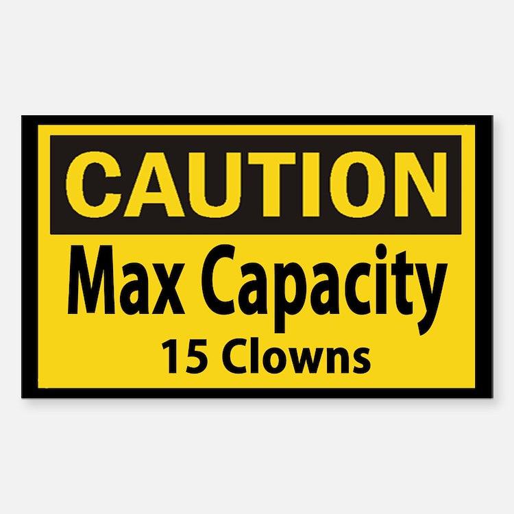 Clown Capacity Decal