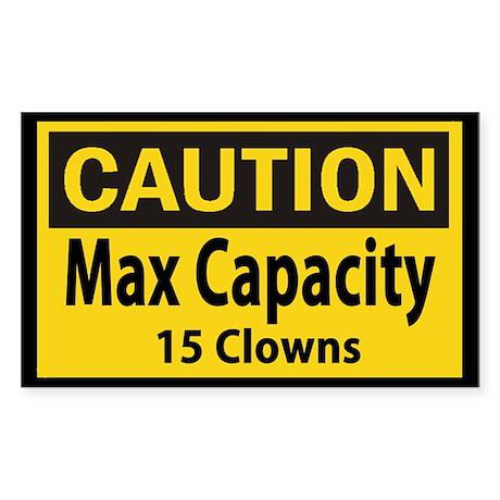 Clown Capacity Sticker