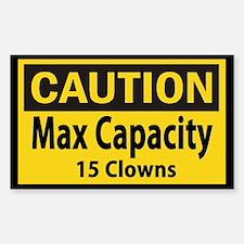 Clown Capacity Stickers