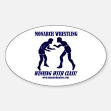 Monarch Wrestling Oval Decal