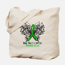 Butterfly Bile Duct Cancer Tote Bag