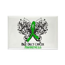 Butterfly Bile Duct Cancer Rectangle Magnet