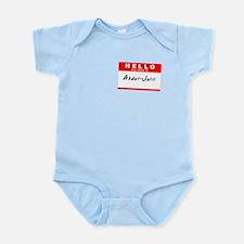Abdul-Jalil, Name Tag Sticker Infant Bodysuit