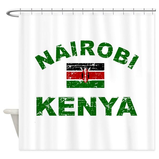 Kitchen Curtains In Kenya: Nairobi Kenya Designs Shower Curtain By Afrocarib