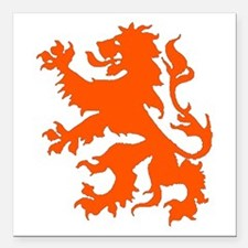 "Dutch Lion Square Car Magnet 3"" x 3"""