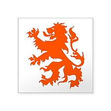 "Dutch Lion Square Sticker 3"" x 3"""