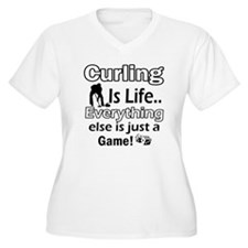 Curling Is Life Designs T-Shirt