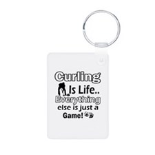 Curling Is Life Designs Keychains