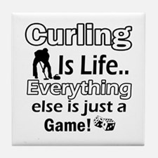 Curling Is Life Designs Tile Coaster