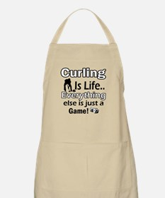 Curling Is Life Designs Apron