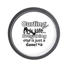 Curling Is Life Designs Wall Clock