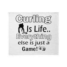 Curling Is Life Designs Throw Blanket