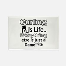 Curling Is Life Designs Rectangle Magnet