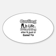 Curling Is Life Designs Decal