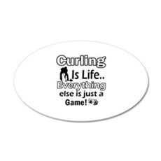 Curling Is Life Designs 22x14 Oval Wall Peel