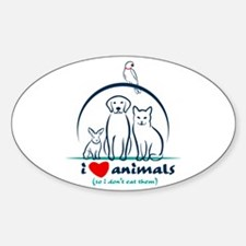 i love animals so i don't eat them Decal