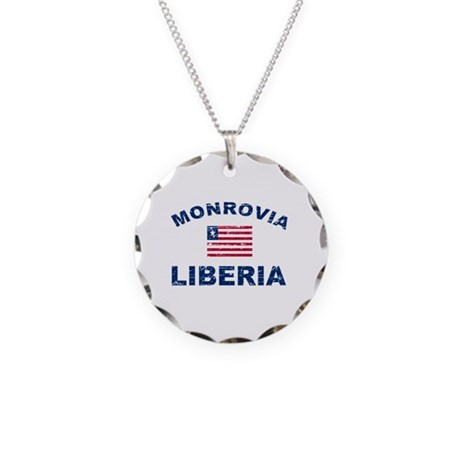 Monrovia Liberia designs Necklace Circle Charm