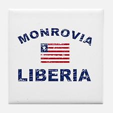 Monrovia Liberia designs Tile Coaster