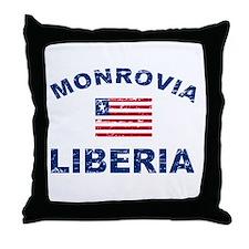 Monrovia Liberia designs Throw Pillow
