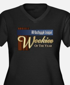 Wookie of the Year Women's Plus Size V-Neck Dark T