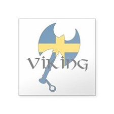"Swedish Viking Axe Square Sticker 3"" x 3"""