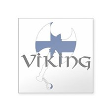 "Finnish Viking Axe Square Sticker 3"" x 3"""