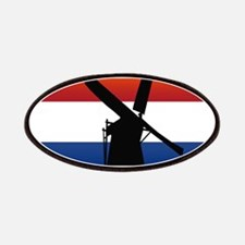Netherlands Windmill Flag Patches