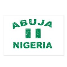 Abuja Nigeria designs Postcards (Package of 8)