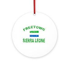 Freetown Sierra Leone designs Ornament (Round)