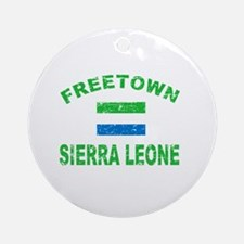 Freetown Sierra Leone designs Ornament (Round)
