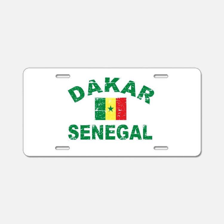 Dakar Senegal designs Aluminum License Plate