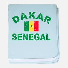 Dakar Senegal designs baby blanket