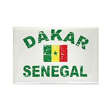 Dakar Senegal designs Rectangle Magnet