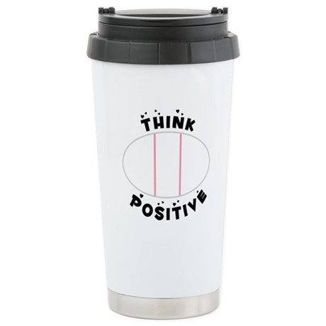 Think Positive Stainless Steel Travel Mug