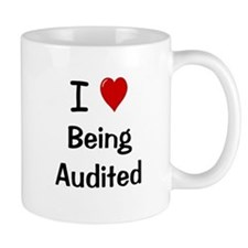 Auditor Small Mugs - I Love Being Audited Cheeky Small Mugs