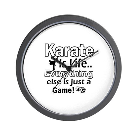 Karate Is Life Designs Wall Clock