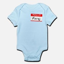 Faraj, Name Tag Sticker Infant Bodysuit