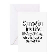 Kung-Fu Is Life Designs Greeting Cards (Pk of 20)