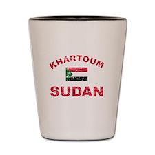 Khartoum Sudan designs Shot Glass
