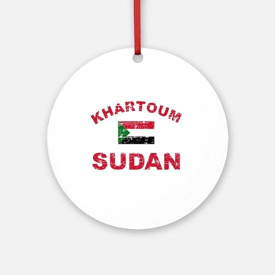 Khartoum Sudan designs Ornament (Round)
