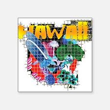 "Hawaii Graphic Square Sticker 3"" x 3"""