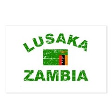 Lusaka Zambia designs Postcards (Package of 8)