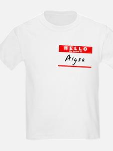 Alysa, Name Tag Sticker T-Shirt