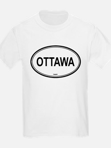 Ottawa, Canada euro Kids T-Shirt