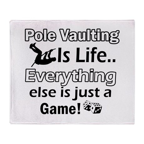 Pole Vaulting Is Life Designs Throw Blanket