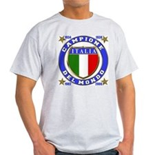 Italia Campione Del Mondo  Ash Grey T-Shirt