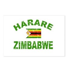 Harare Zimbabwe designs Postcards (Package of 8)