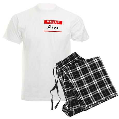 Alva, Name Tag Sticker Men's Light Pajamas
