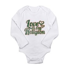 Love is My Religion Long Sleeve Infant Bodysuit
